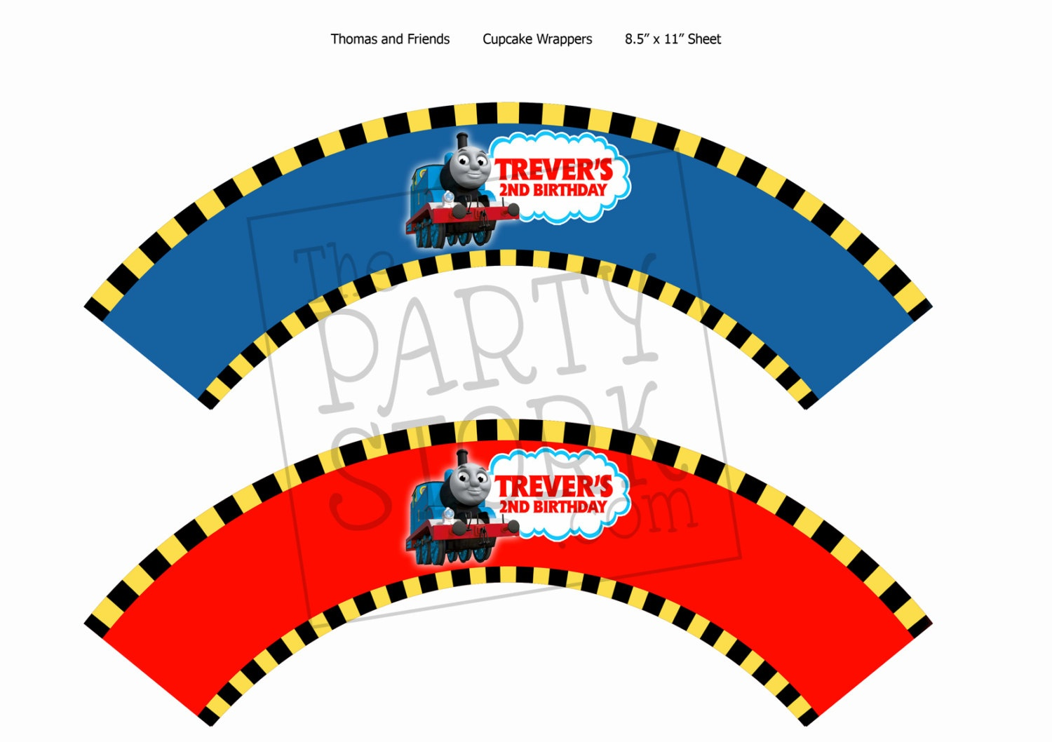 6 Thomas The Train Cupcakes Wrappers Photo - Thomas The Train - Free Printable Thomas The Train Cupcake Toppers