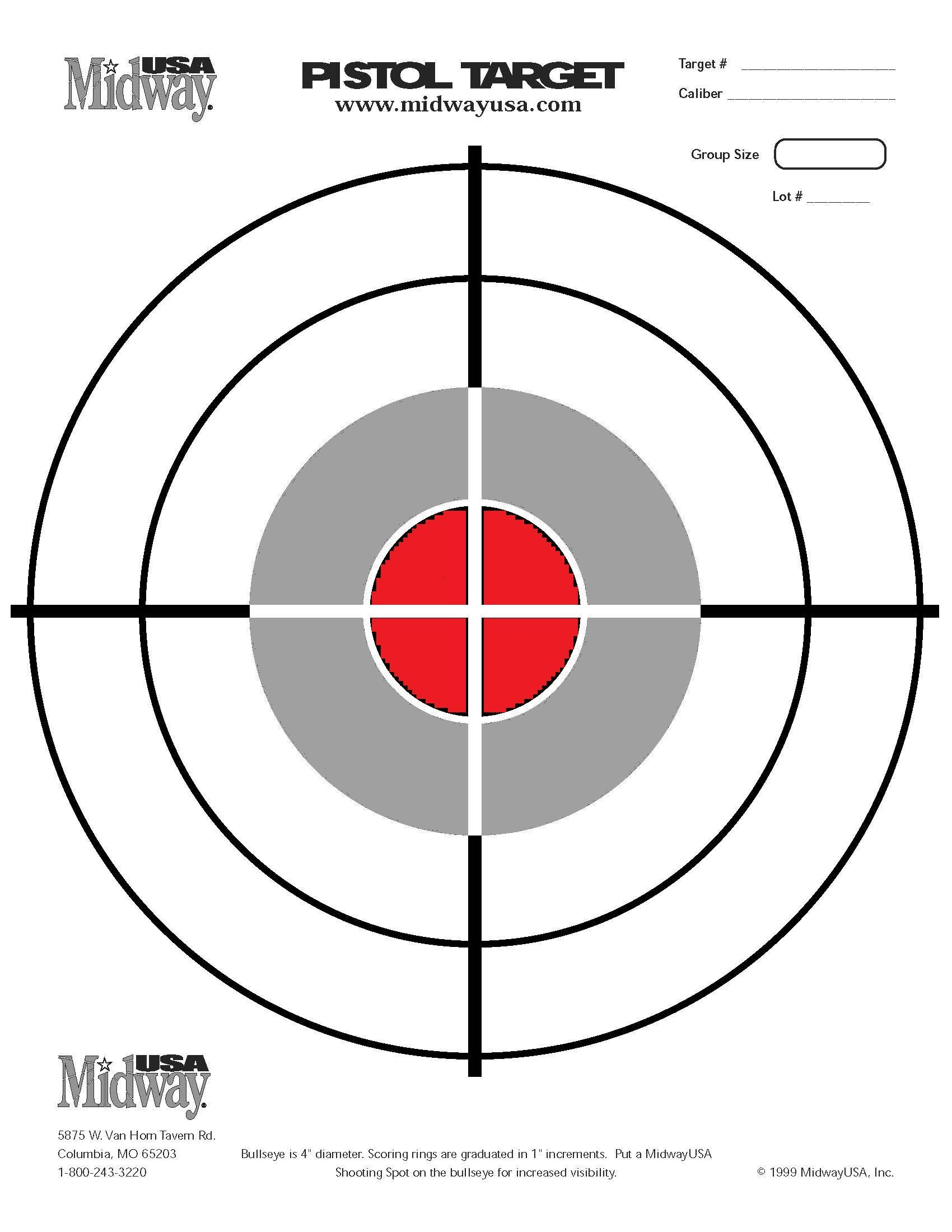 60 Fun Printable Targets | Kittybabylove - Free Printable Targets