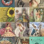 7 Free Creative Collage Sheet Printables For Decoupage Tissue Paper   Free Printable Picture Collage