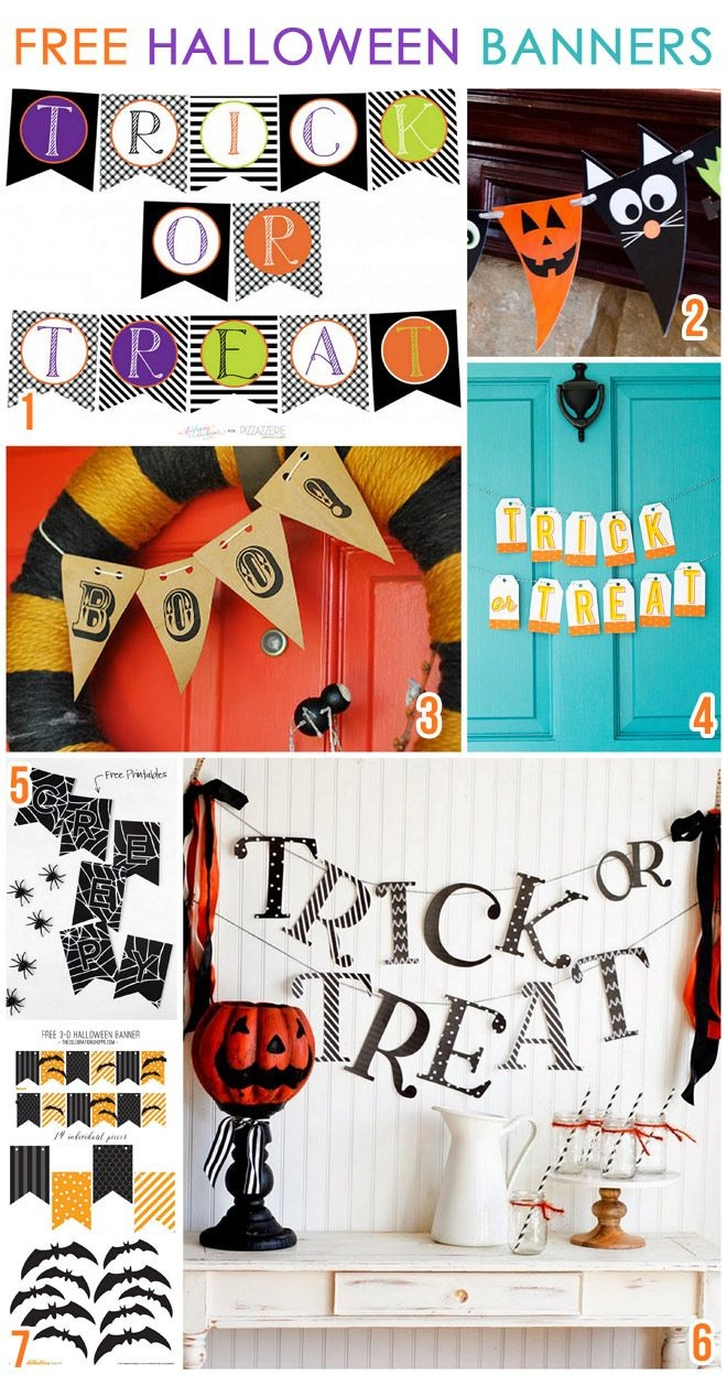 7 Free Printable Halloween Banners | Bloggers Best | Halloween - Free Printable Halloween Party Decorations