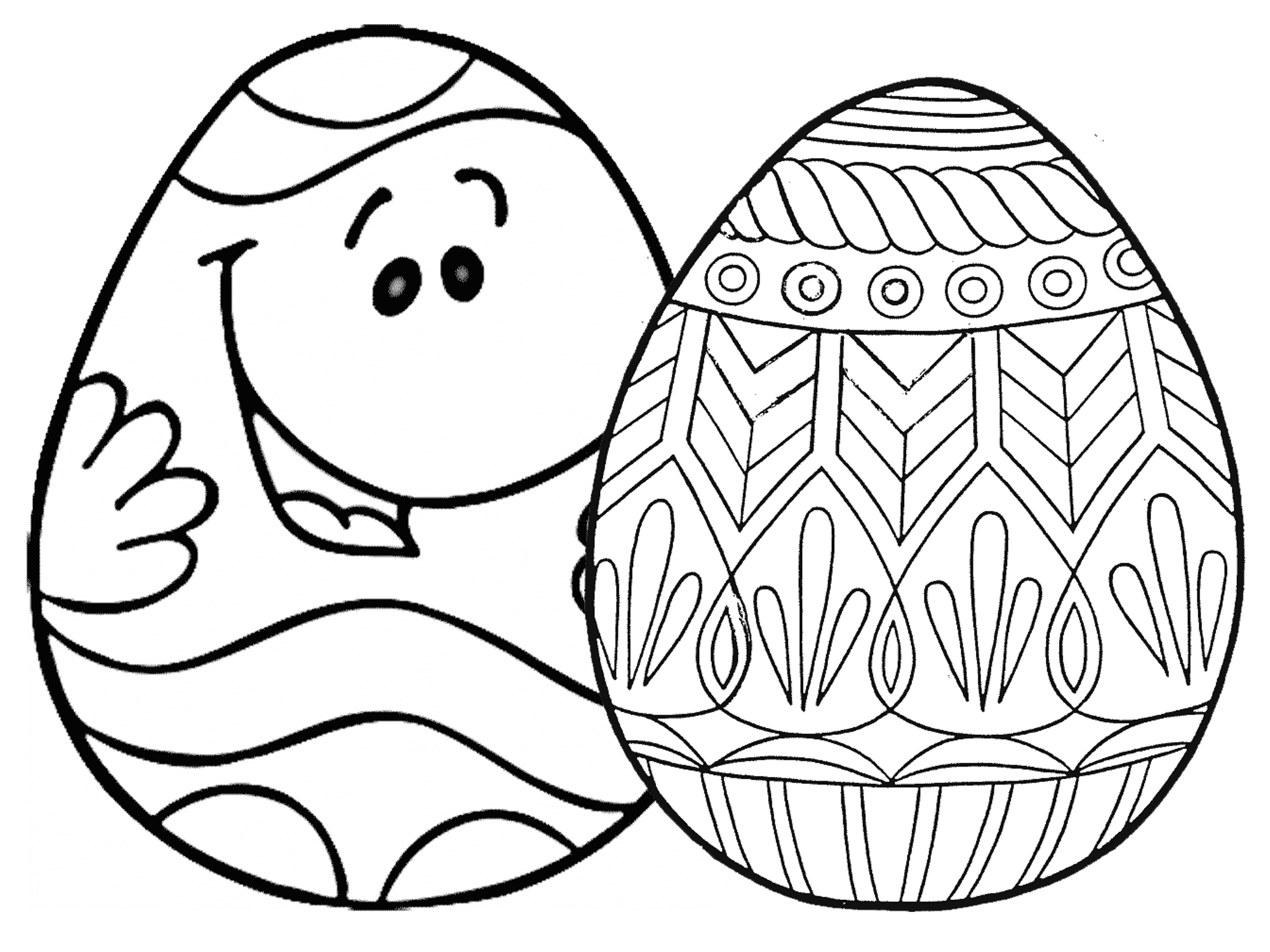 7 Places For Free, Printable Easter Egg Coloring Pages - Free Printable Easter Stuff