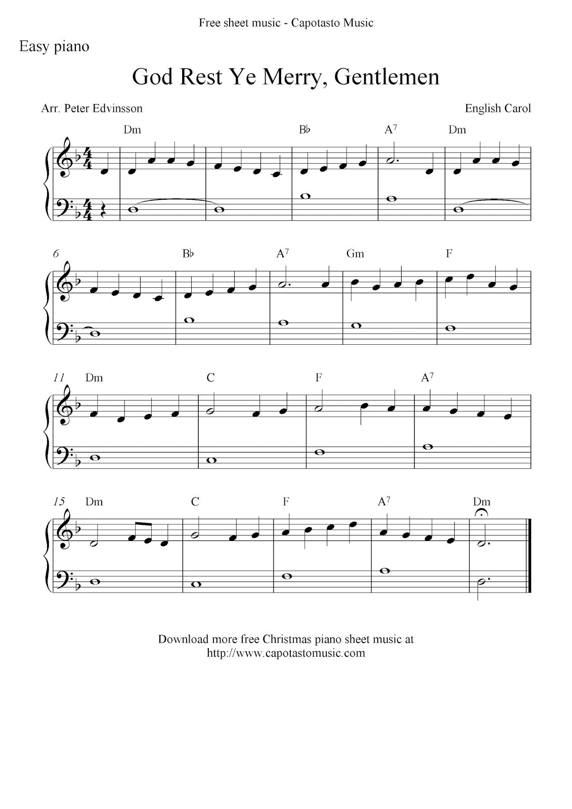 70 Melodious Christmas Piano Sheet Music | Kittybabylove - Christmas Piano Sheet Music Easy Free Printable