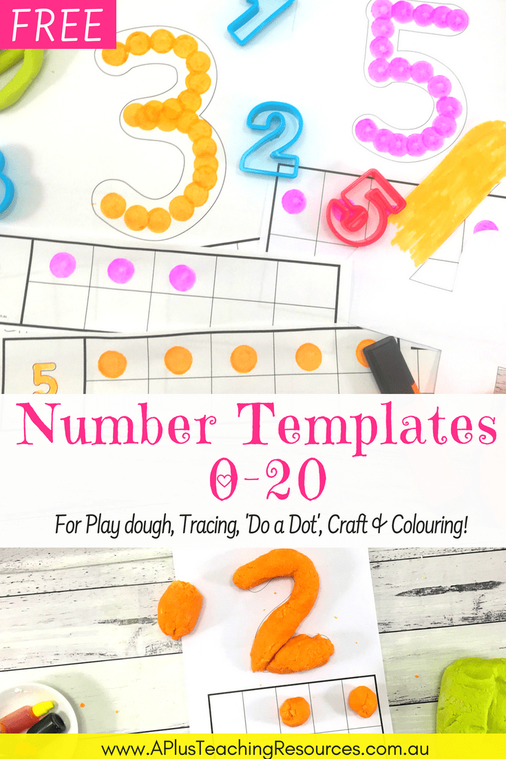 75 Free Printable Numbers Templates 0-20 - Perfect For Hands-On Math! - Free Printable Number Posters
