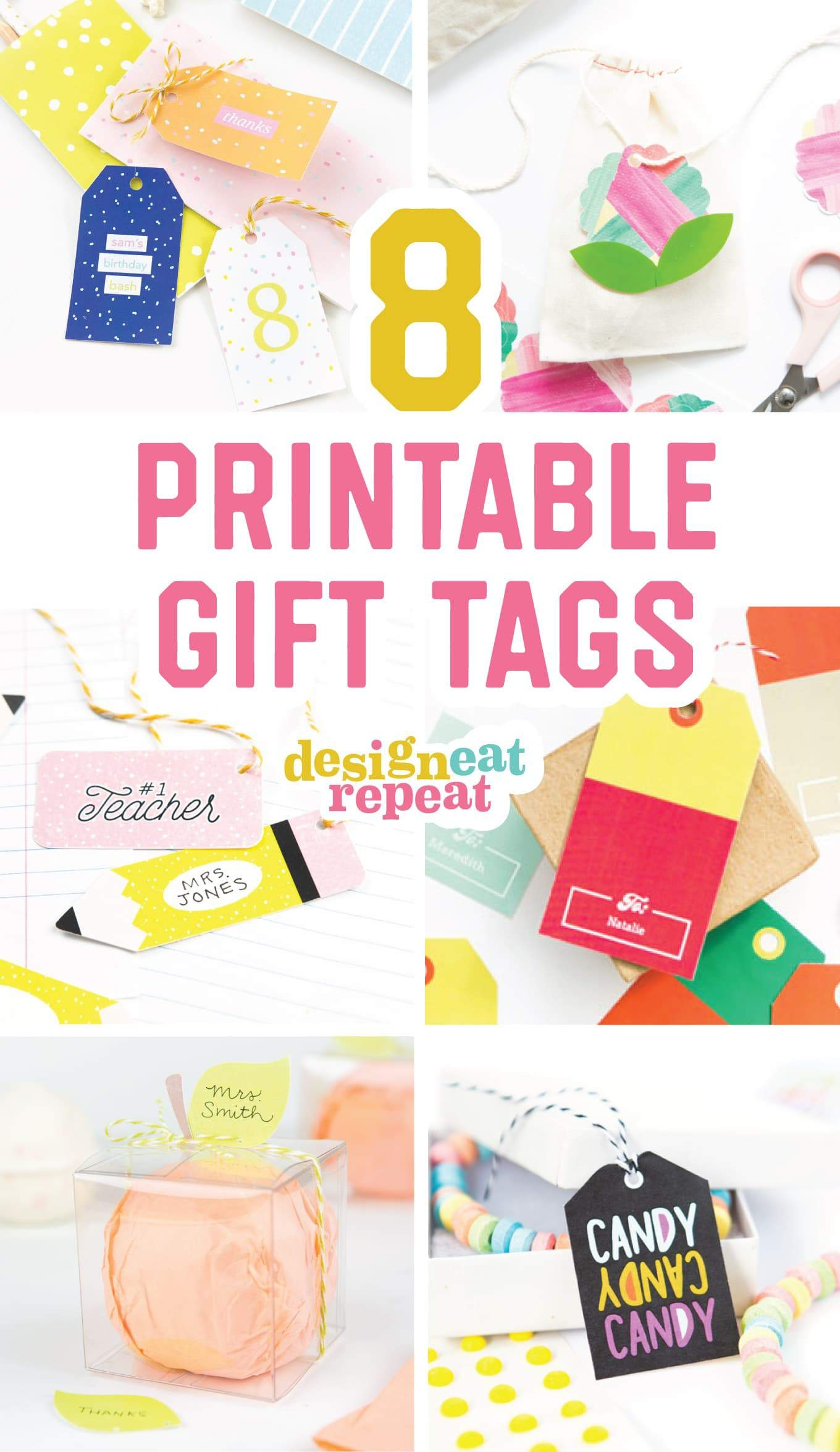 8 Colorful & Free Printable Gift Tags For Any Occasion! - Free Printable Birthday Tags