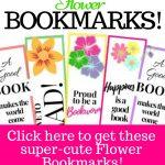 8 Free Printable Flower Bookmarks   Super Cute!!| My Three Readers   Free Printable Spring Bookmarks