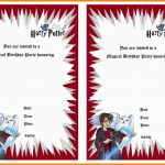8+ Harry Potter Birthday Invitations Printable Free | Plastic Mouldings   Harry Potter Birthday Invitations Free Printable