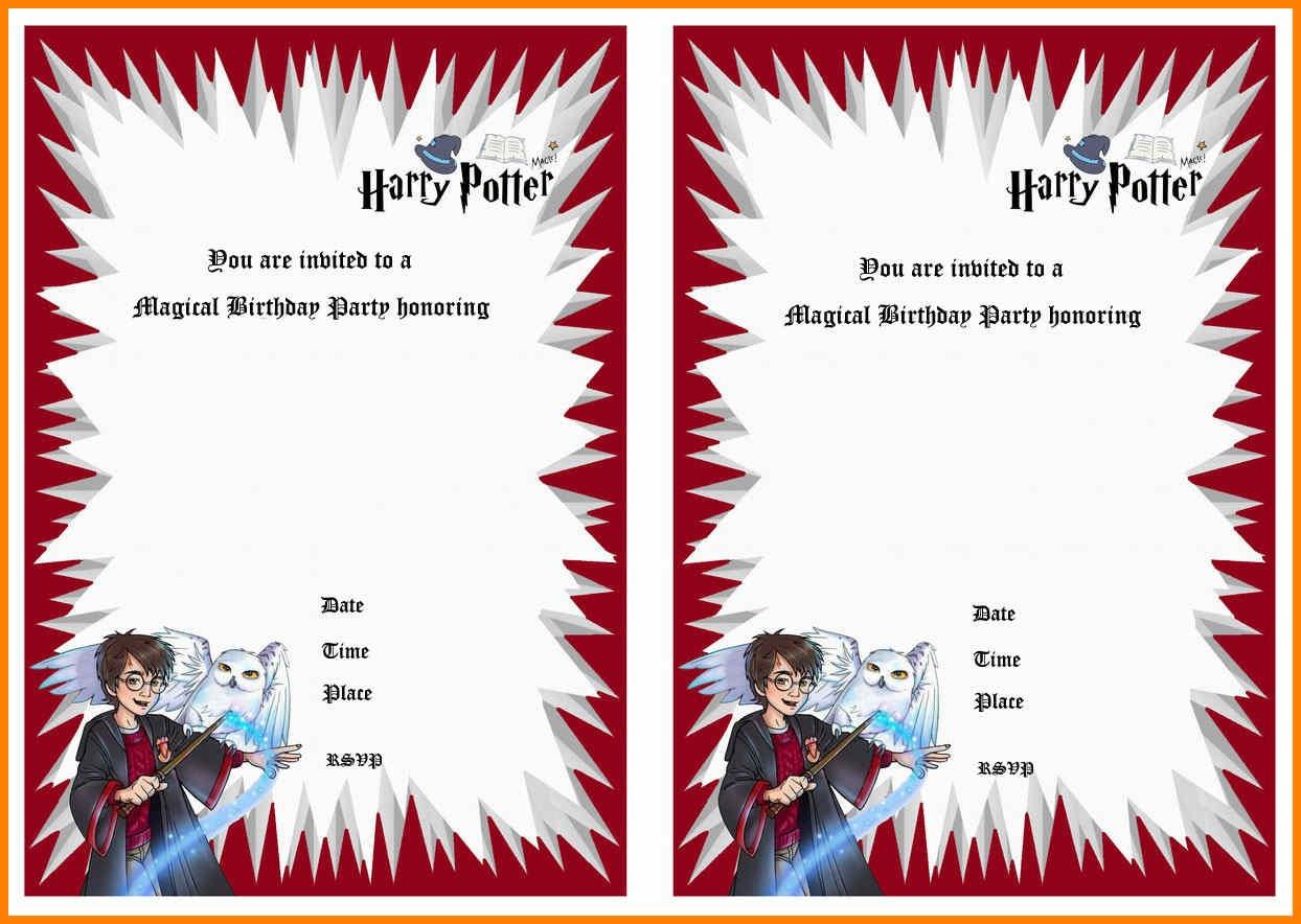 8+ Harry Potter Birthday Invitations Printable Free | Plastic-Mouldings - Harry Potter Birthday Invitations Free Printable