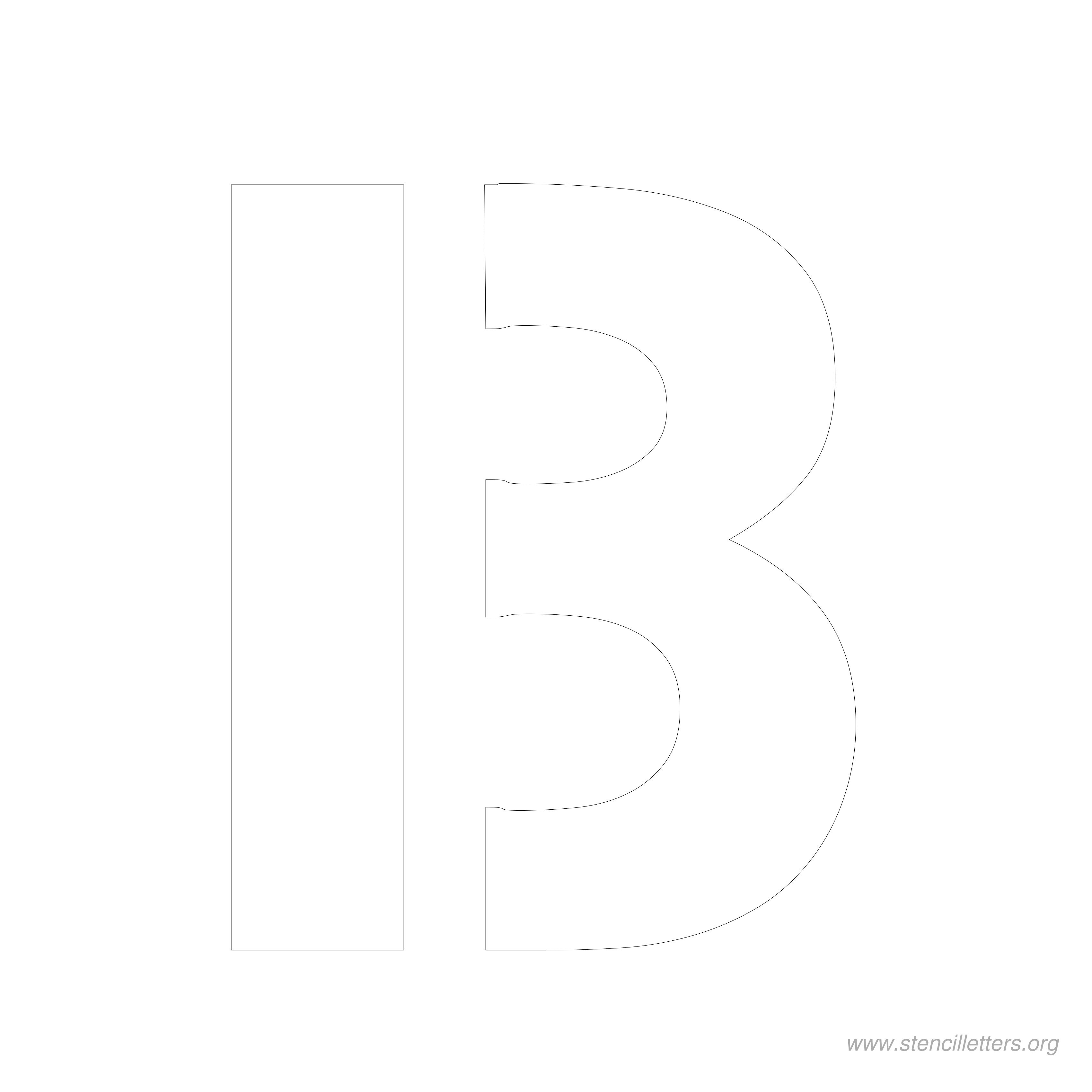 8 Inch Stencil Letters   Stencil Letters Org - Free Printable 10 Inch Letter Stencils