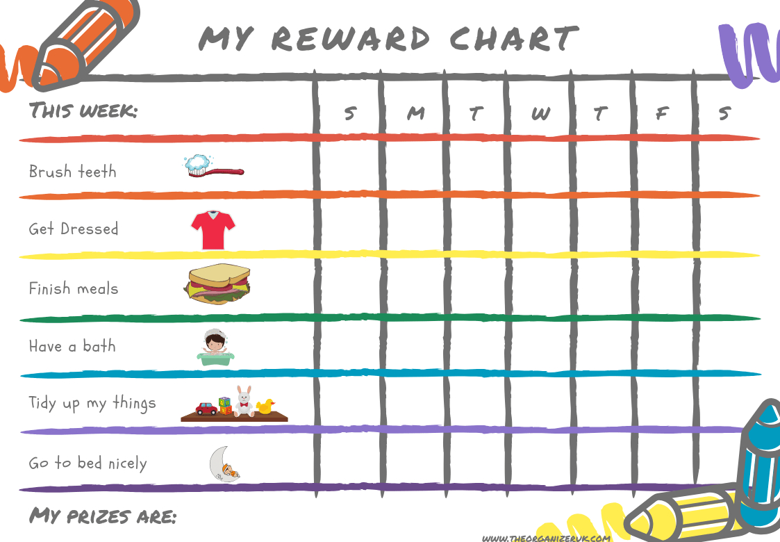 8 Of The Best Free Printable Kids Chore Charts ~ The Organizer Uk - Free Printable Months Of The Year Chart