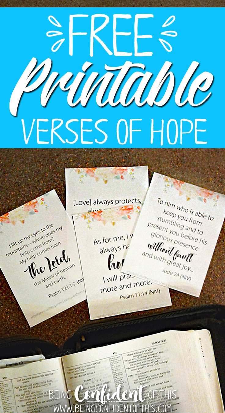 8 Verses Of Hope For Every Woman (Free Printable!) | Being Confident - Free Printable Bible Lessons For Women