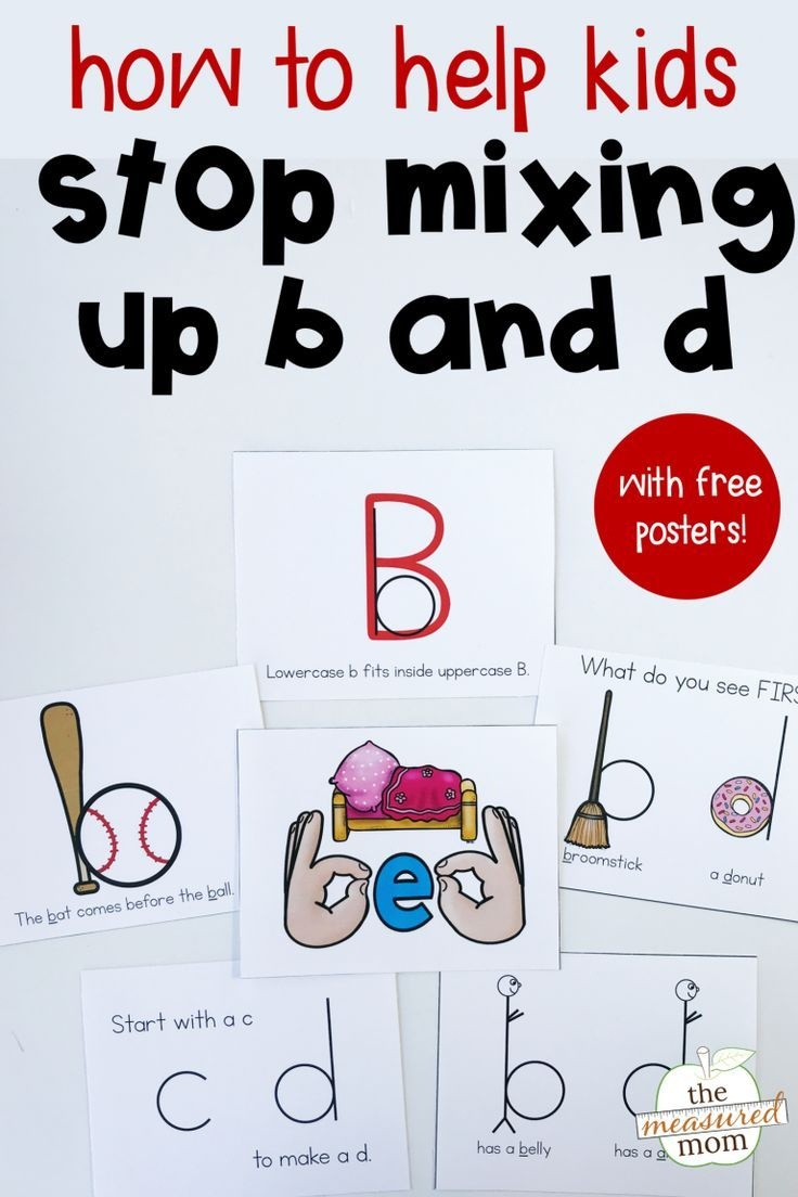 8 Ways To Help Kids Stop Making B And D Letter Reversals | English - Literacy Posters Free Printable