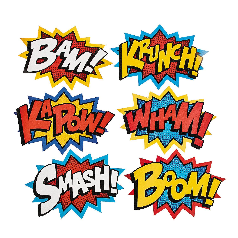 86+ Superhero Words Clipart | Clipartlook - Free Printable Superhero Words