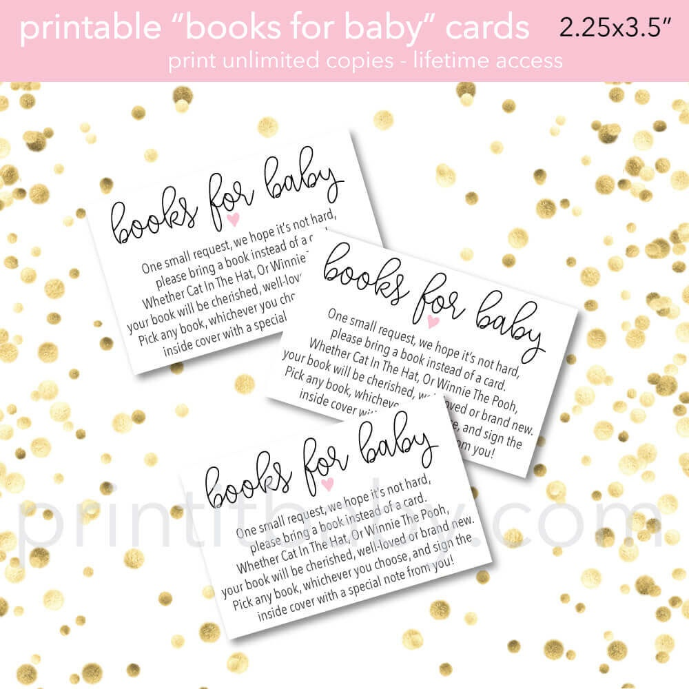 "9 ""bring A Book Instead Of A Card"" Baby Shower Invitation Ideas - Free Printable Book Themed Baby Shower Invitations"