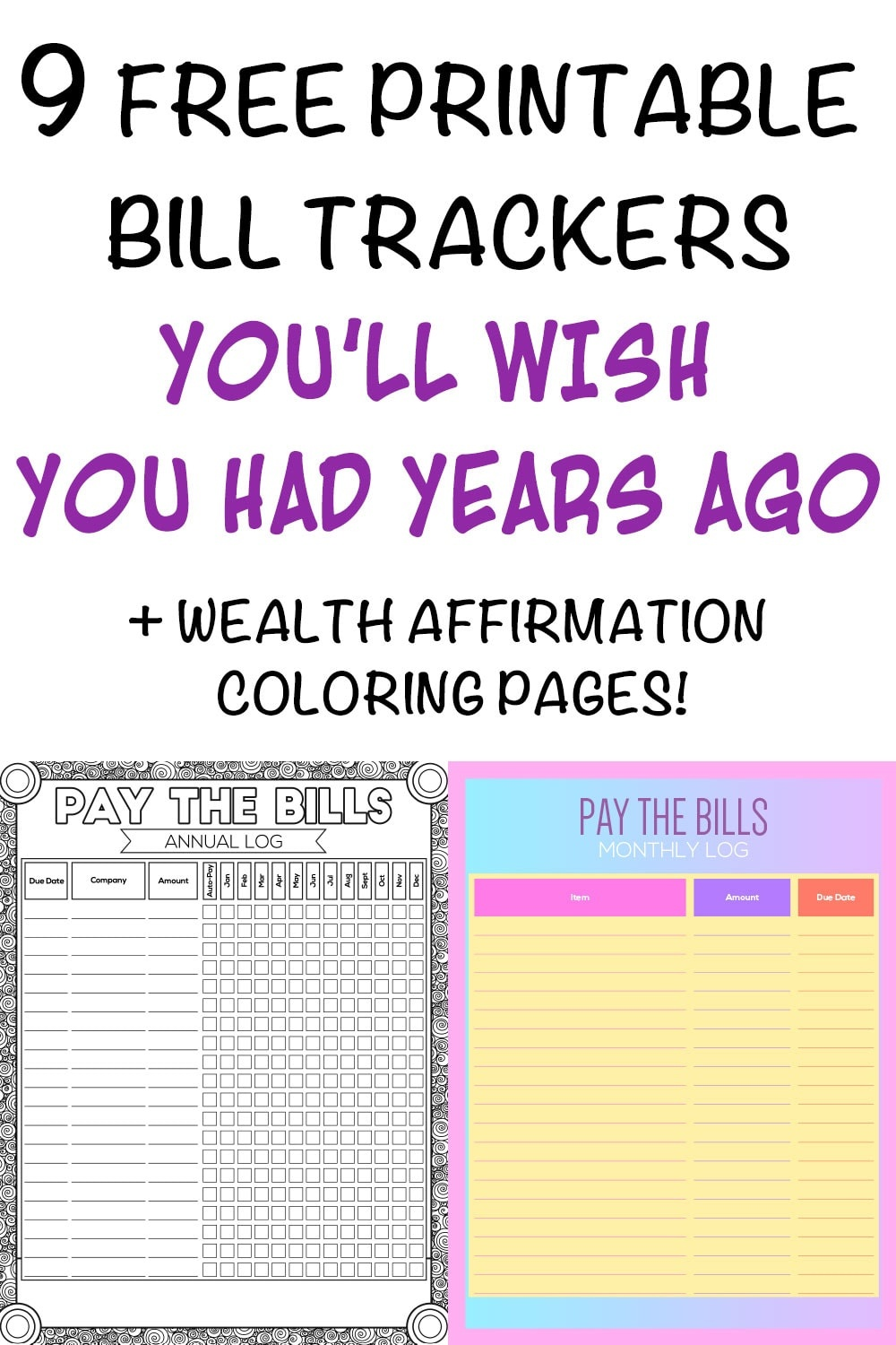 9 Printable Bill Payment Checklists And Bill Trackers - The Artisan Life - Free Printable Bill Checklist