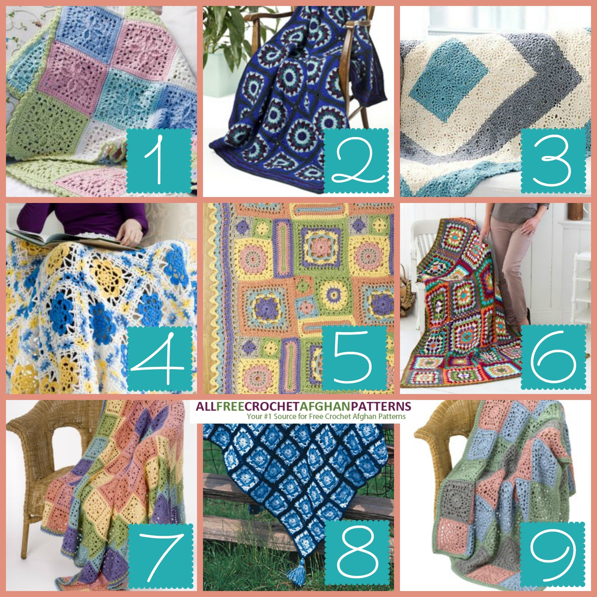 9 Printable Granny Square Afghans - Stitch And Unwind - Free Printable Crochet Granny Square Patterns