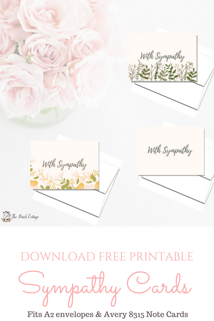 A Bundle Of Joy & Some Heartbreaking News With Printable Sympathy - Free Printable Sympathy Cards