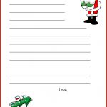 A Christmas Lesson Plan: Write A Letter To Santa Clause | Places To   Free Printable Dear Santa Stationary