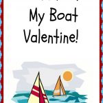 A Darling Valentine For Boat Lovers! This Free Printable Valentine   Free Printable Boat Pictures