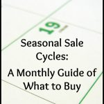 A Free Printable Guide To Seasonal Sale Cycles | Money, Money, Money   Free Printable Coupons Without Downloads