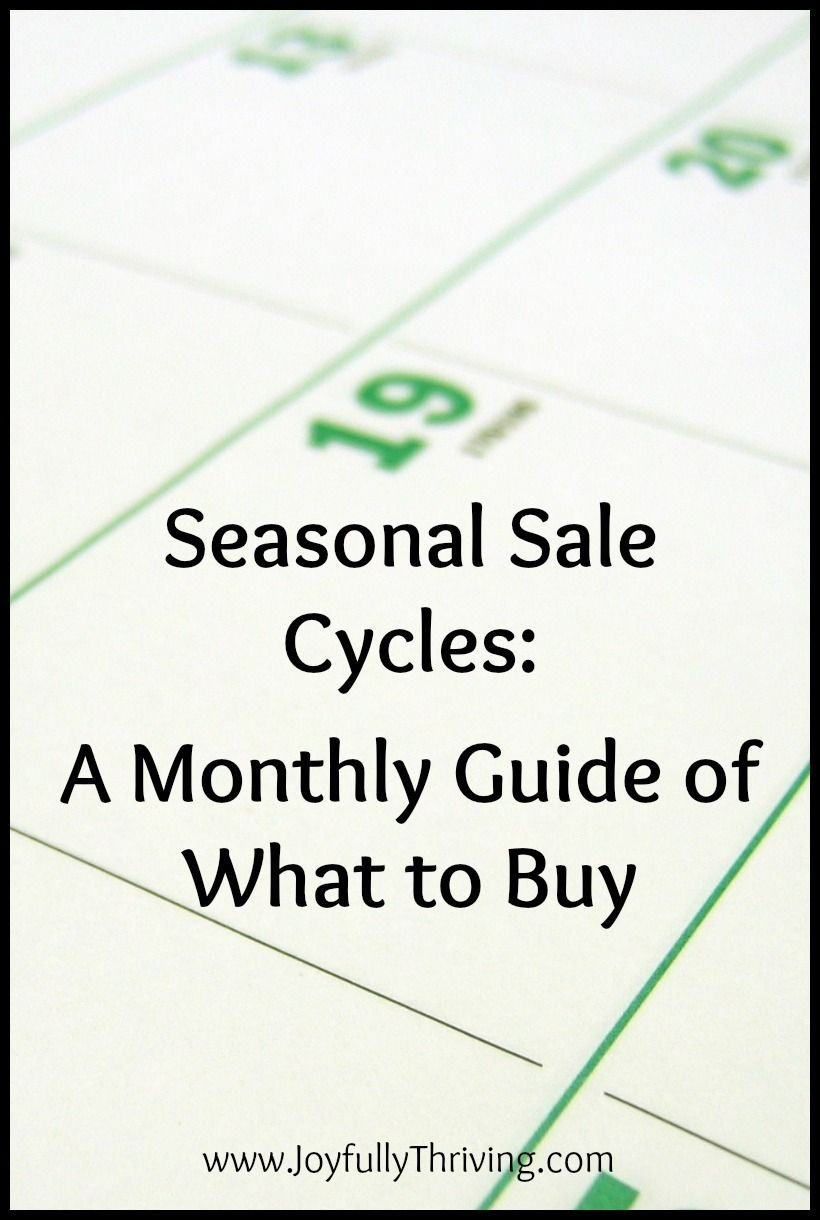 A Free Printable Guide To Seasonal Sale Cycles   Money, Money, Money - Free Printable Coupons Without Downloads
