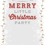 A Merry Little Party   Free Printable Christmas Invitation Template   Christmas Party Invitation Templates Free Printable