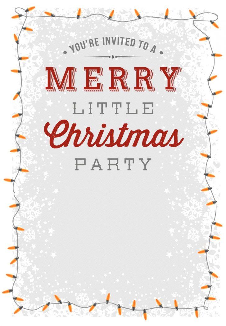 Free Printable Christmas Party Flyer Templates