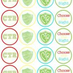 A Pocket Full Of Lds Prints: Ctr Cupcake Toppers   Free Diy Printable   Baptism Cupcake Toppers Printable Free