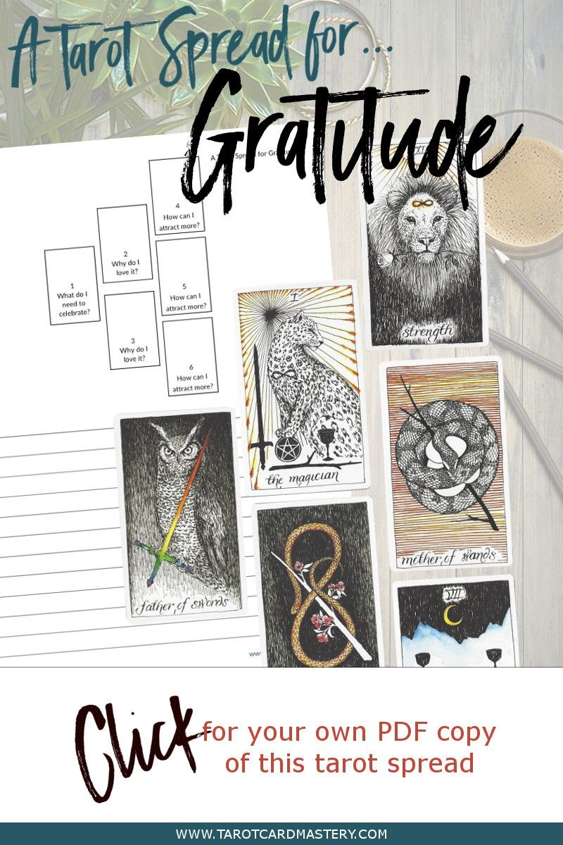 A Tarot Spread For Gratitude | Tarot Card Spreads | Tarot, Tarot - Printable Tarot Cards Pdf Free