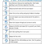A True Catholic Version Of The Ten Commandments, For Kids | The   Free Catholic Ten Commandments Printable