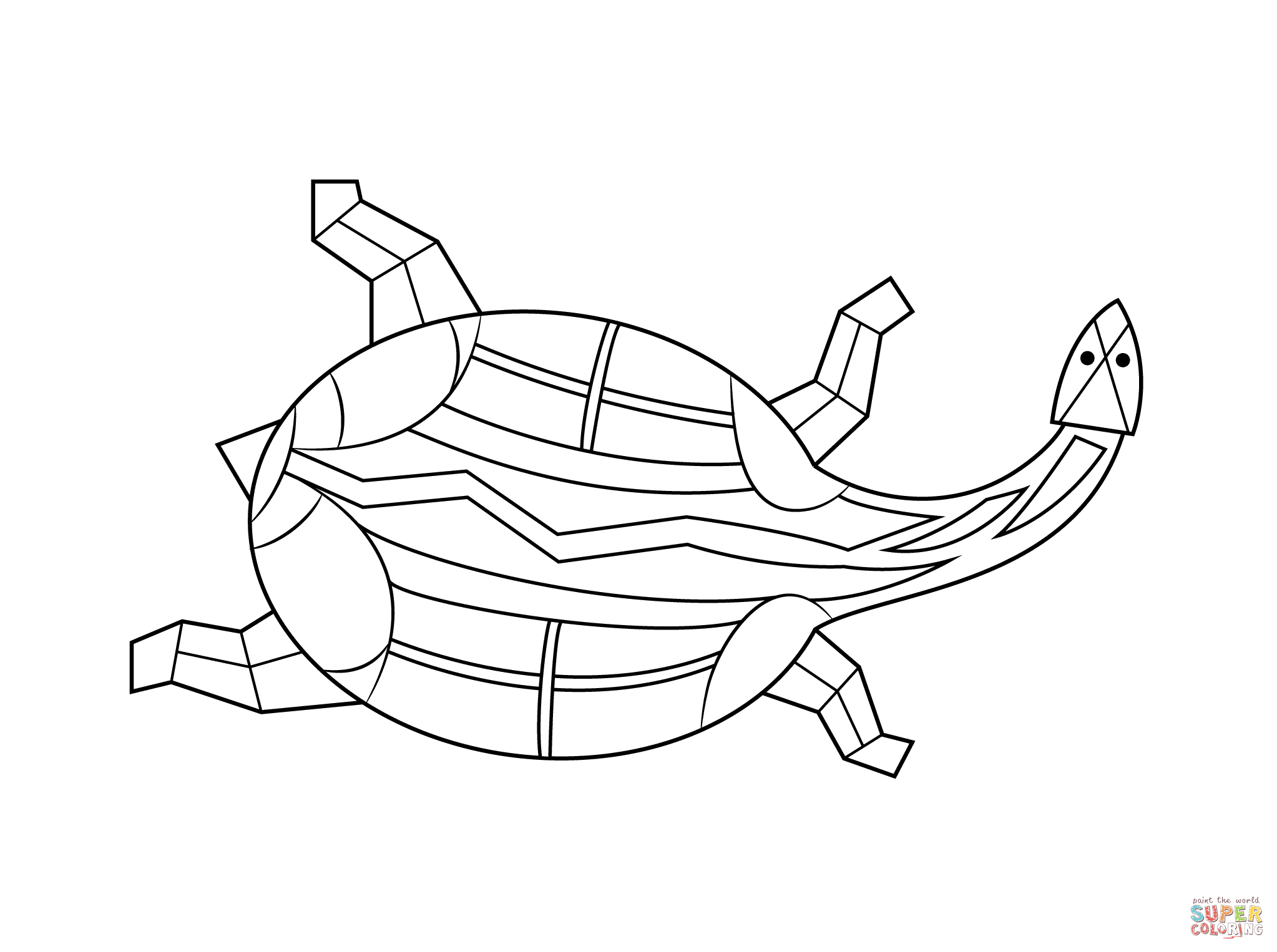 Aboriginal Painting Of Turtle Coloring Page | Free Printable - Free Printable Aboriginal Colouring Pages
