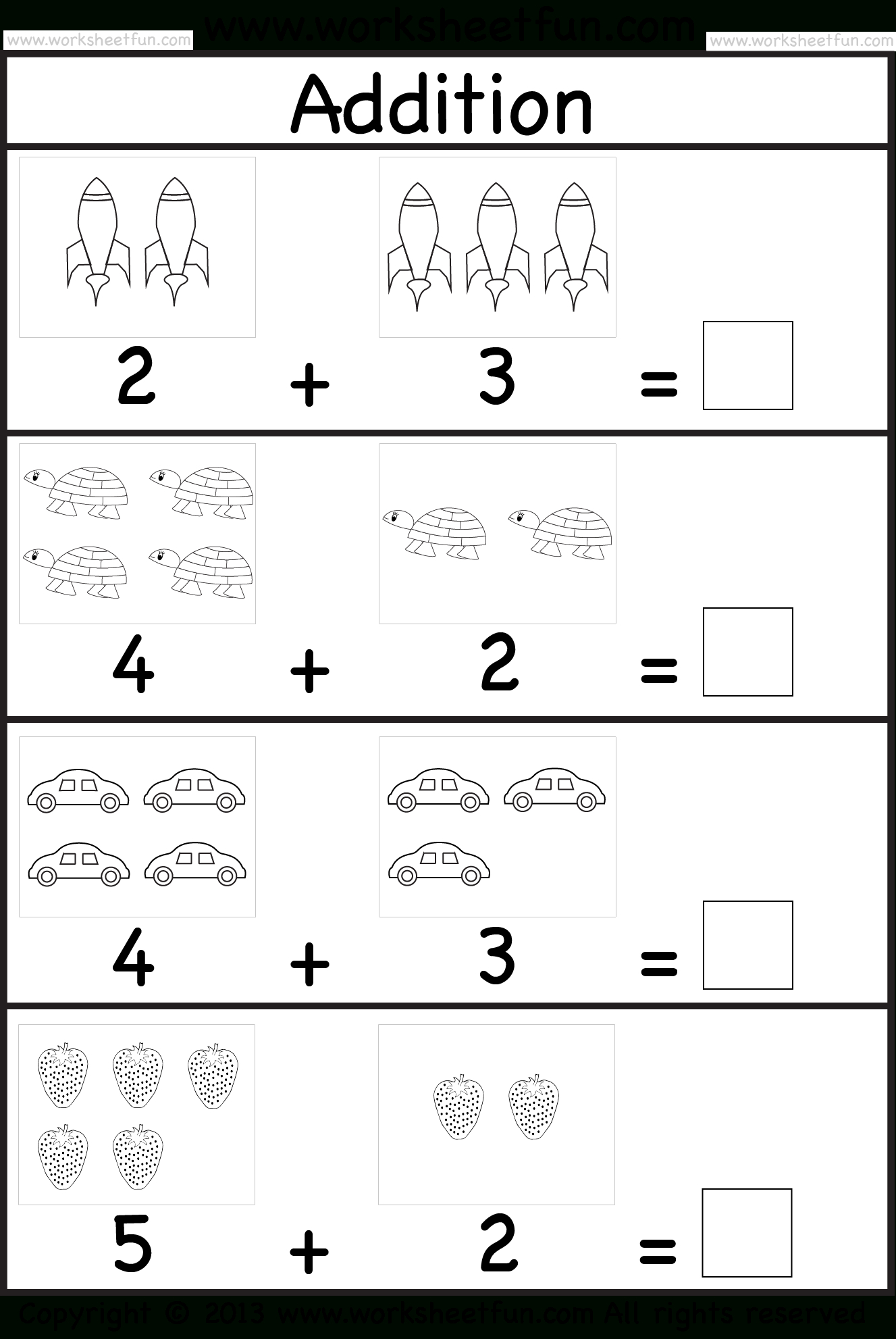 Addition Worksheet. This Site Has Great Free Worksheets For - Www Free Printable Worksheets