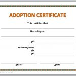 Adoption Certificate Template   Free Printable Adoption Certificate