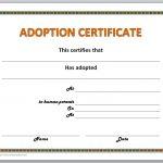 Adoption Certificate Template   Free Printable Adoption Certificate