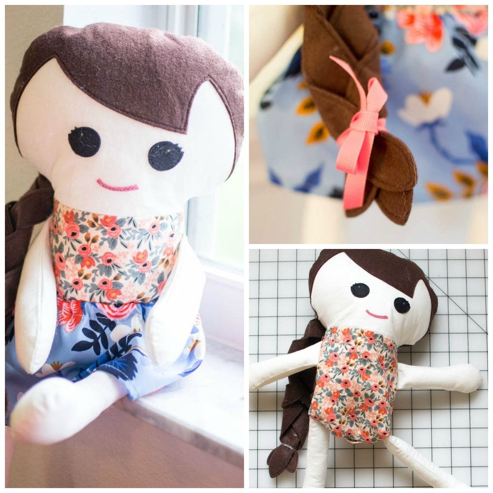 Adorable Free Fabric Doll Pattern - Meet Katy! — Sewcanshe | Free - Free Printable Cloth Doll Sewing Patterns