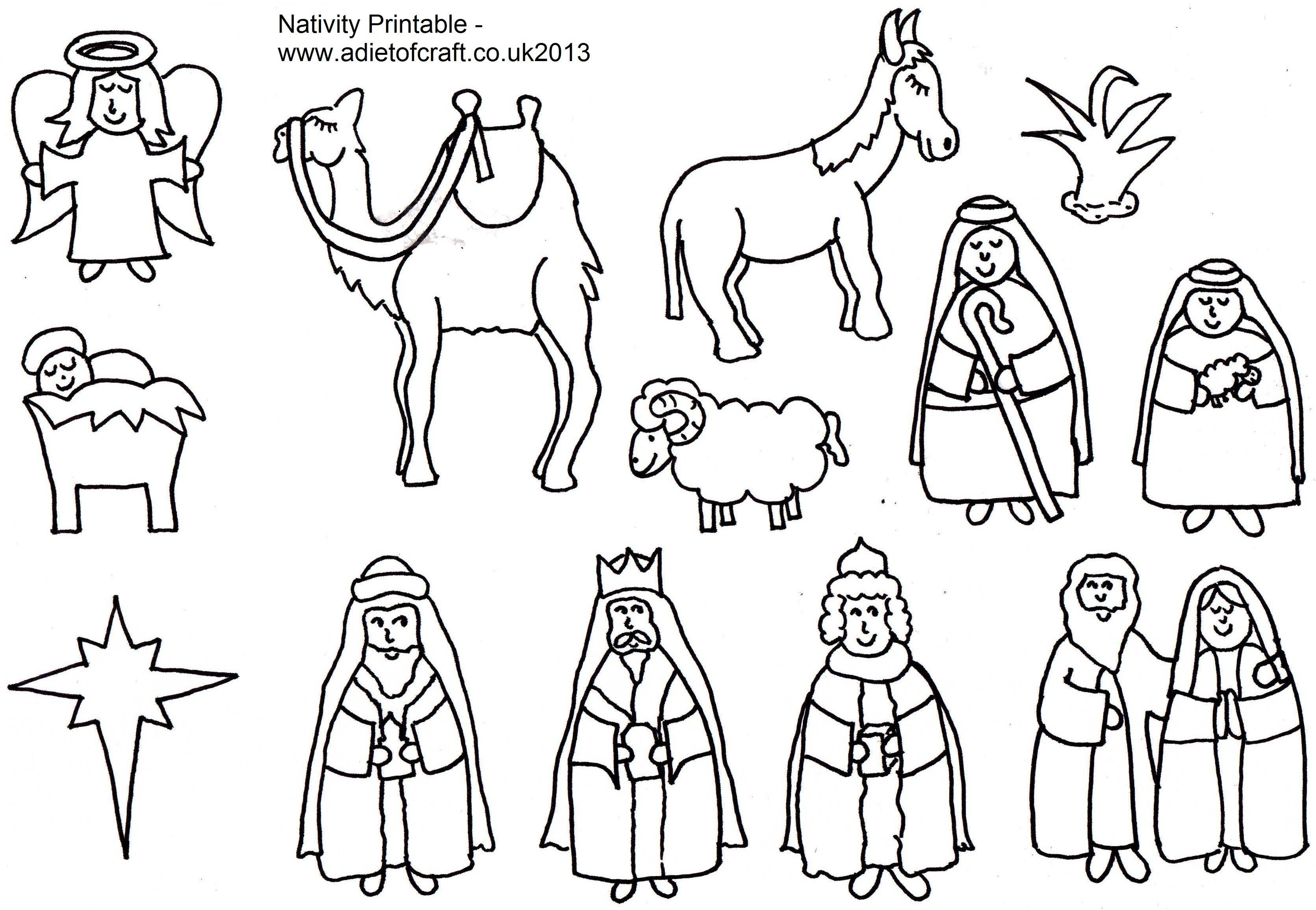 Printable Coloring Pages Of Nativity Scenes For Kids ...