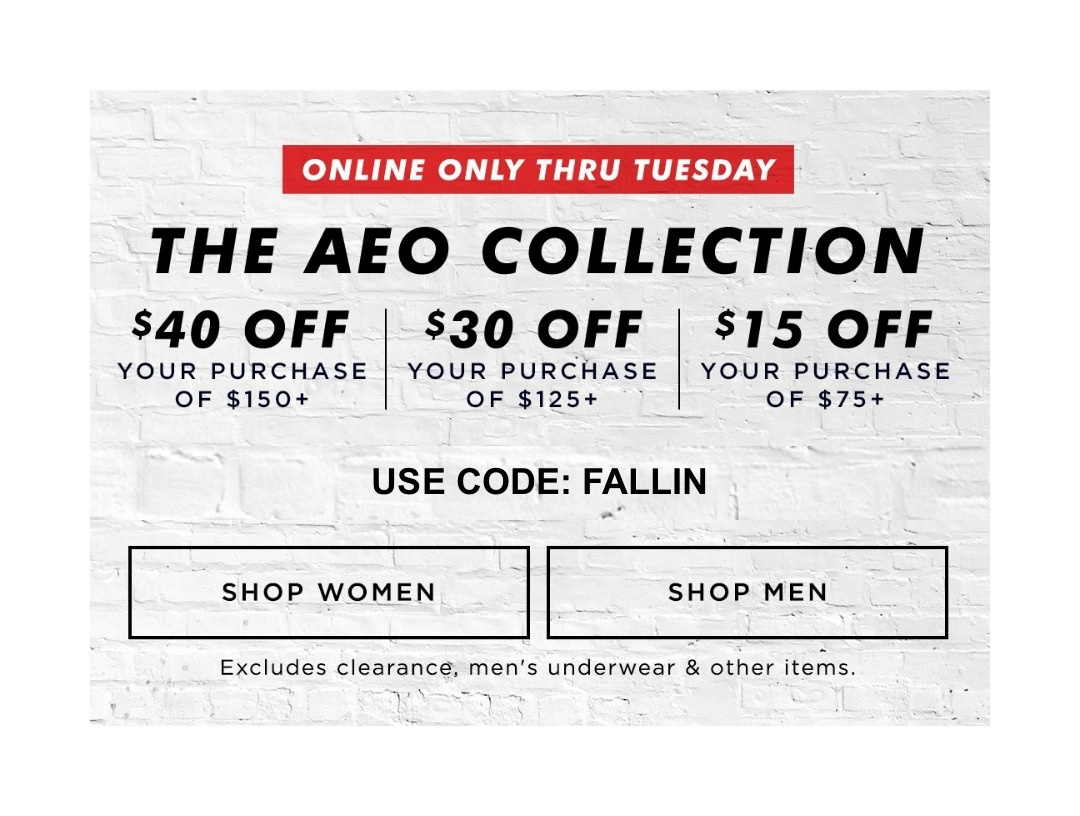 Ae Coupons 15 Off / Coupons 30 Off - Free Printable American Eagle Coupons
