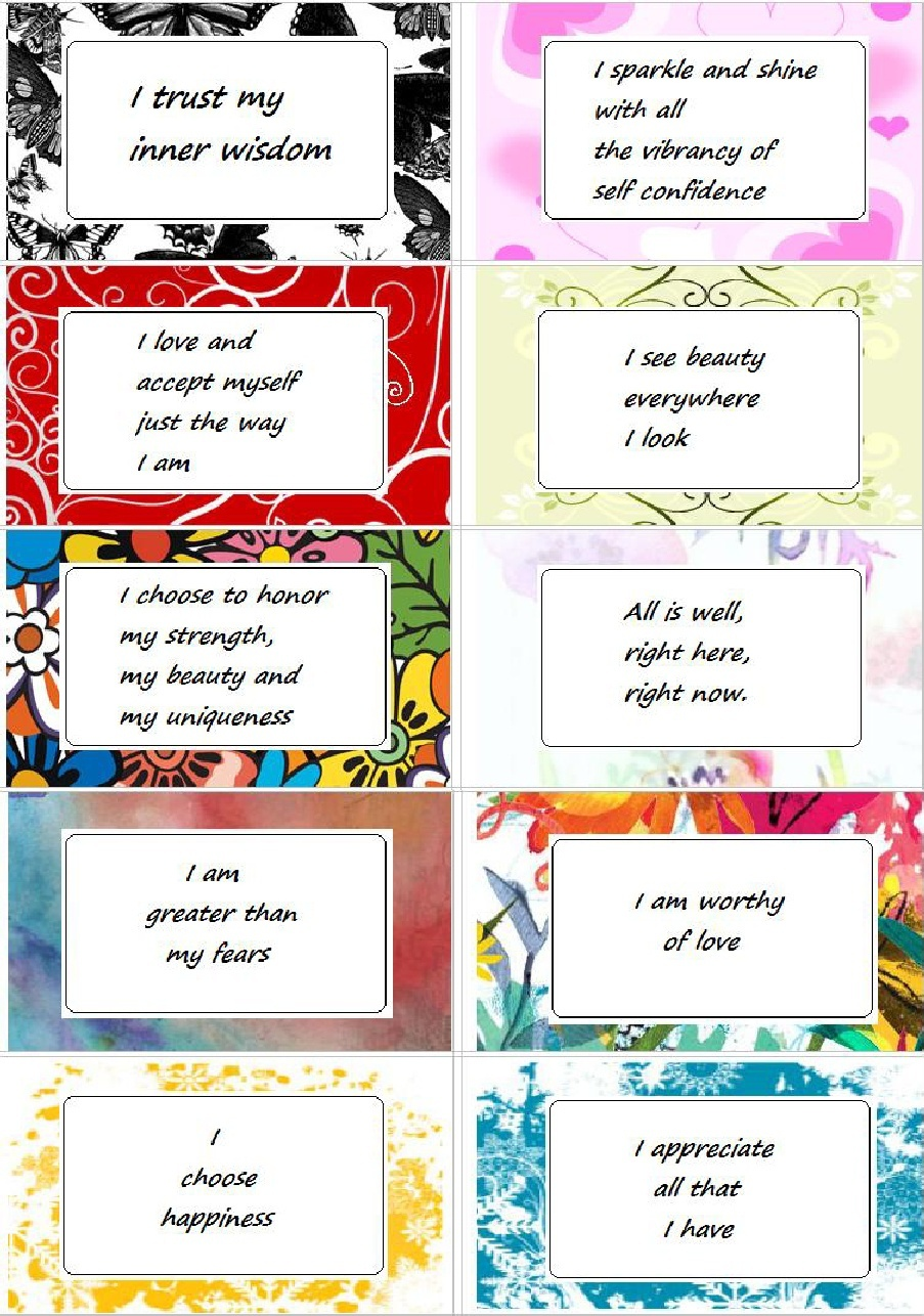 Affirmation Cards - Enchanted Pixie - Free Printable Positive Affirmation Cards