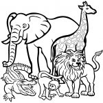 African Animals Coloring Pages | Free Printable Pictures   Free Printable Animal Coloring Pages