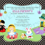Alice In Wonderland Birthday Invitations Free Printable | Alice   Mad Hatter Tea Party Invitations Free Printable