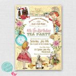 Alice In Wonderland Birthday Party Invitations Free | Cailini   Mad Hatter Tea Party Invitations Free Printable