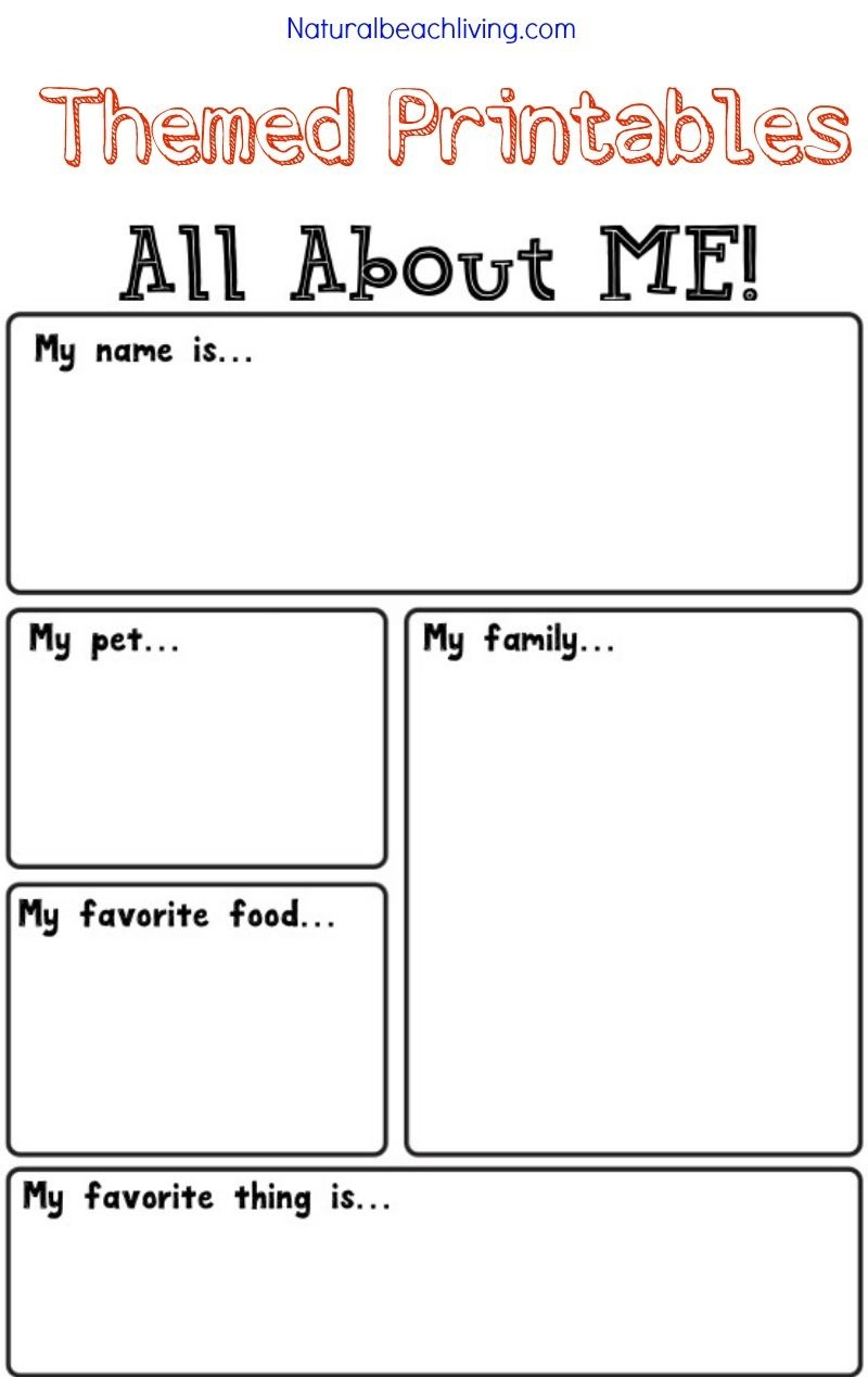 All About Me Activity Theme For Preschool & Kindergarten | Free - Free Printable Activities For Preschoolers