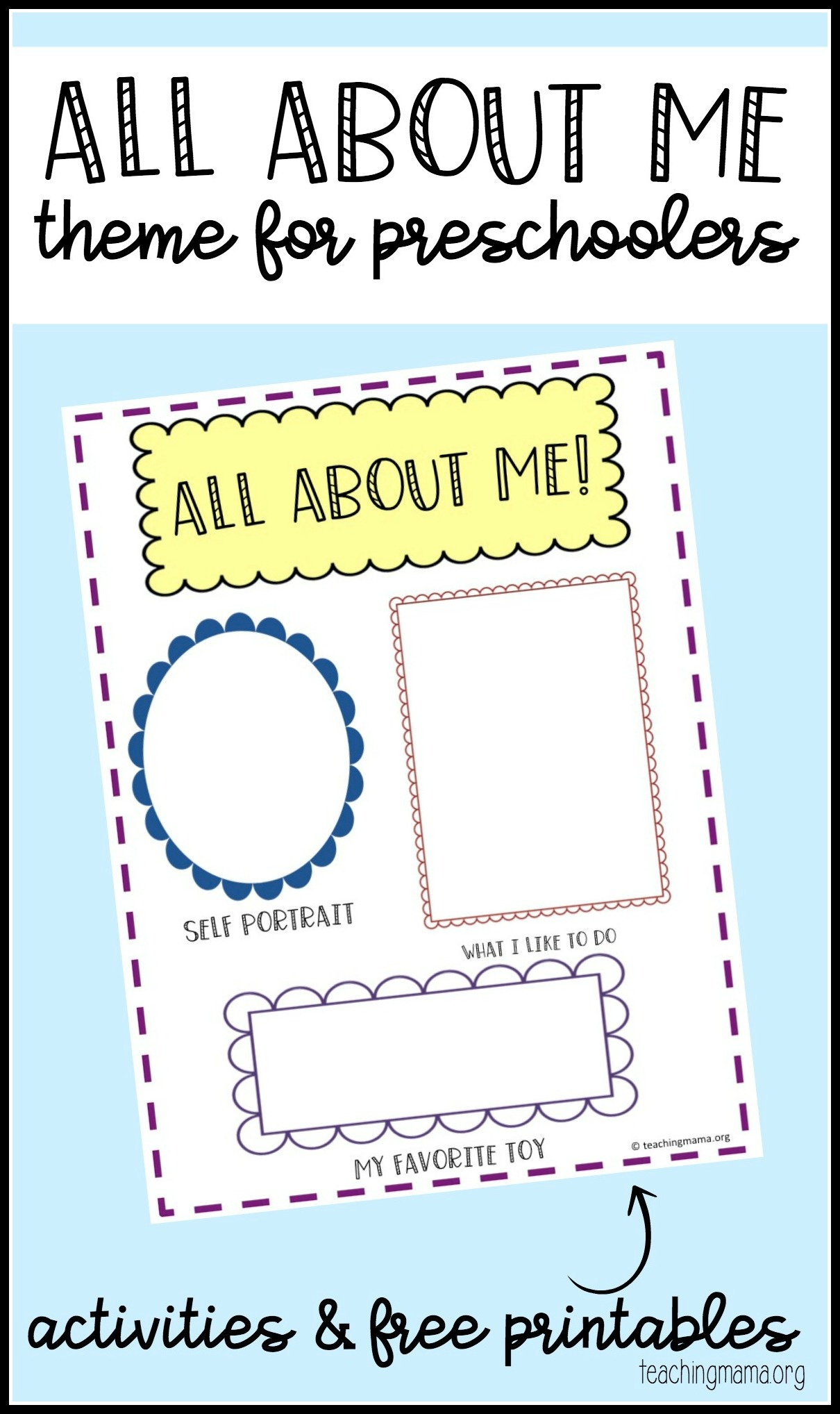 All About Me Preschool Theme - Free Printable Early ...