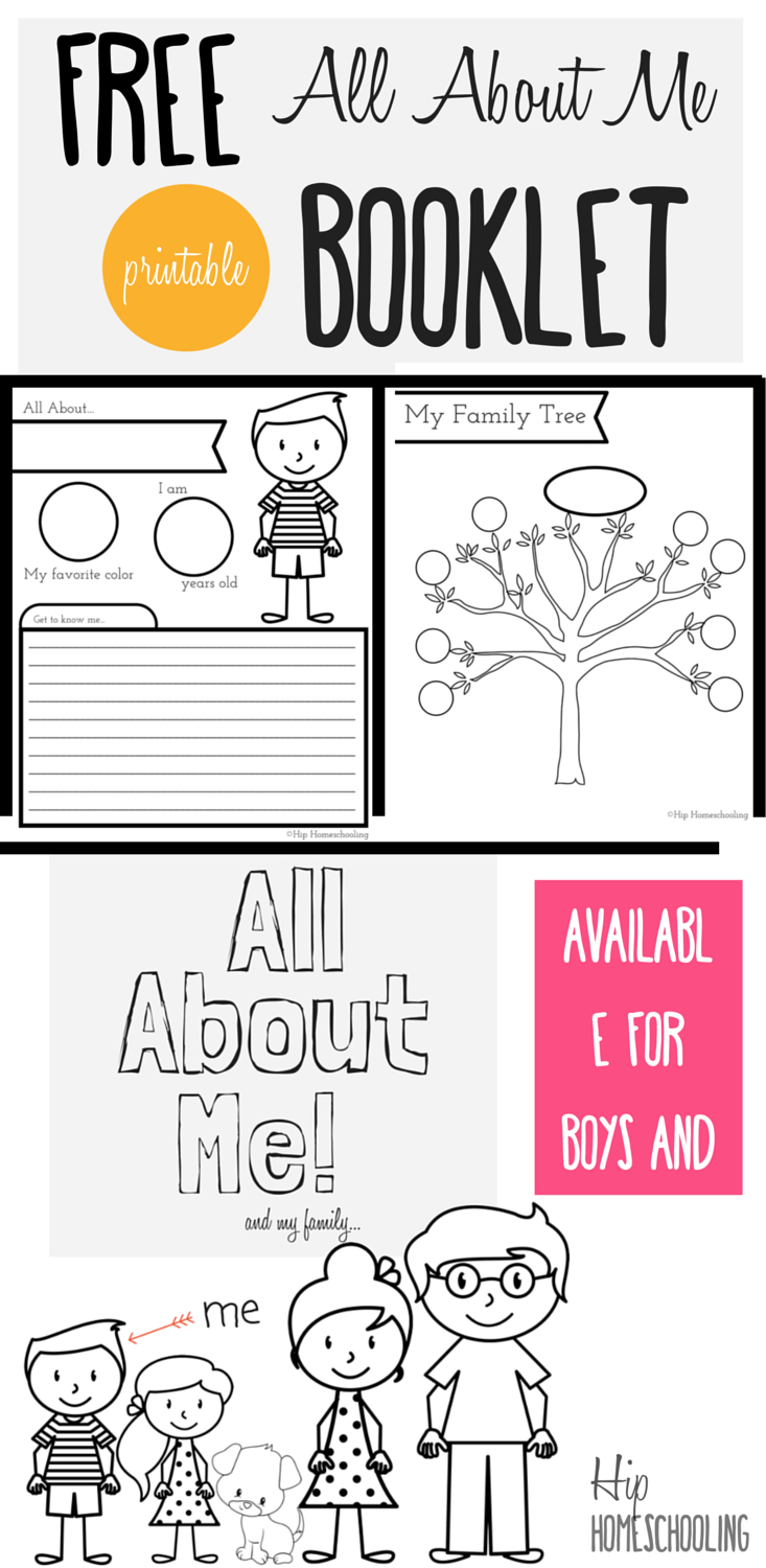 All About Me Worksheet: A Printable Book For Elementary Kids - Free Printable Books For Kindergarten