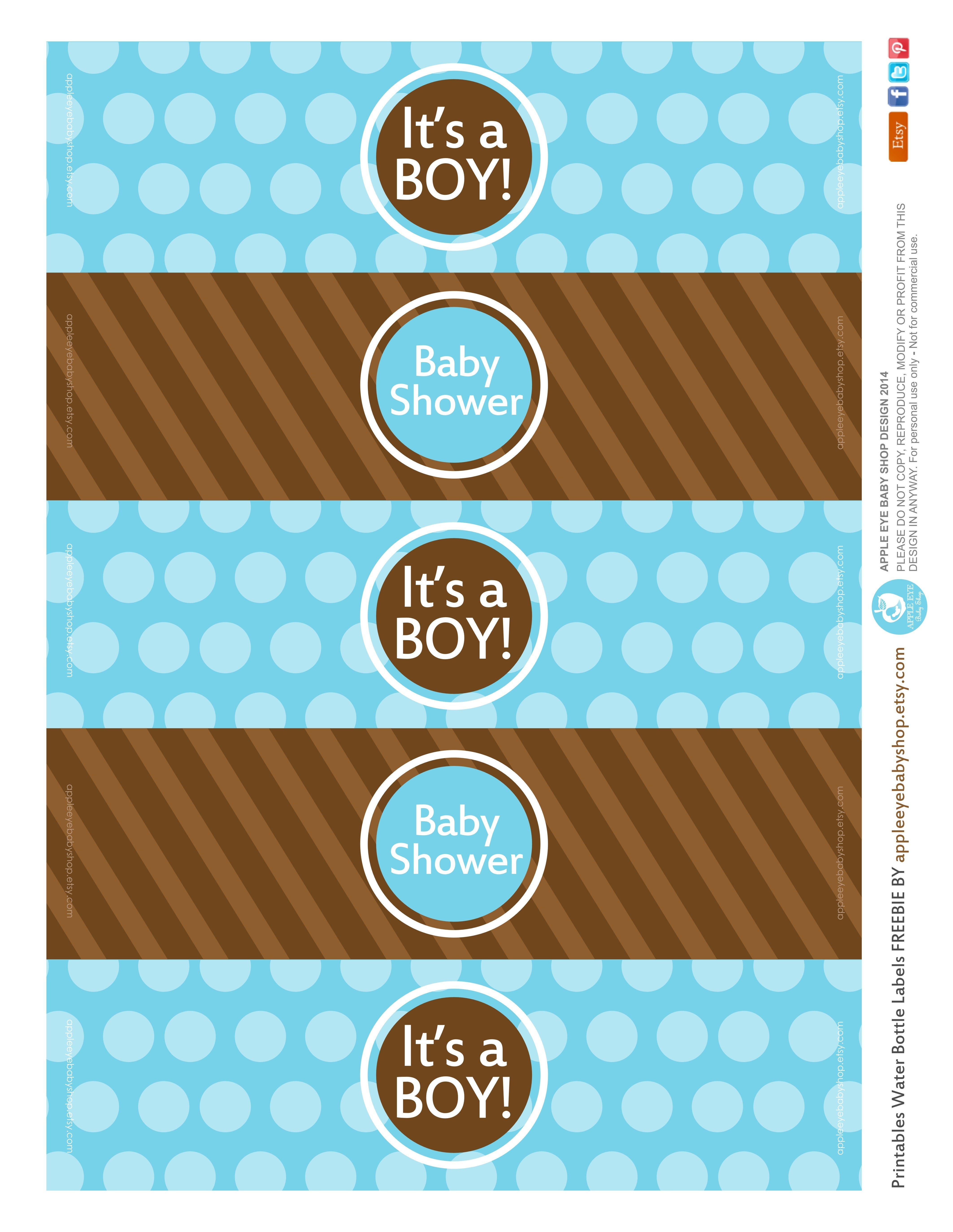 All Sizes | Free Printable | Water Bottle Labels Baby Boyapple - Free Printable Baby Shower Labels For Bottled Water