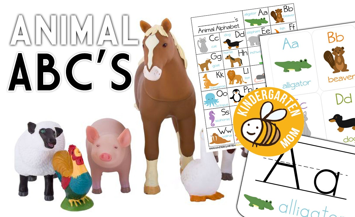 Alphabet Animals - Kindergarten Mom - Free Printable Animal Alphabet Letters