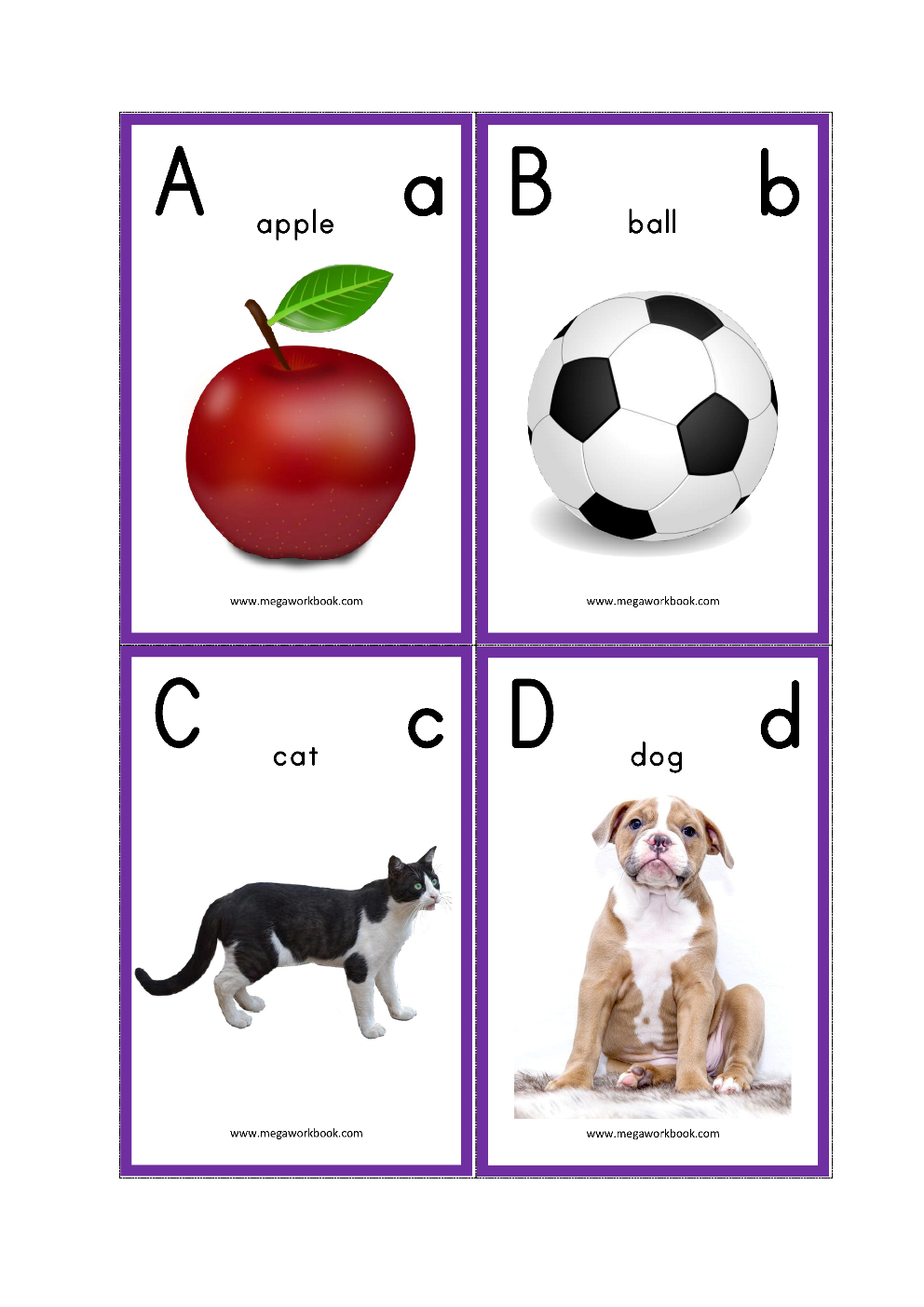 Alphabet Flash Cards - Abc Flash Cards - Letters With Pictures - Free Printable Abc Flashcards With Pictures