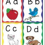 Alphabet Flashcards Freebie | Alphabet Crafts | Alphabet, Printable   Free Printable Alphabet Flash Cards