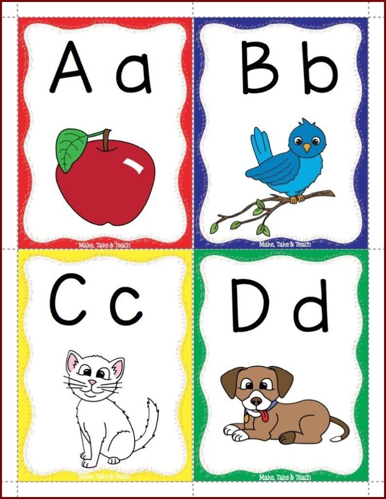 Alphabet Flashcards Freebie | Alphabet Crafts | Alphabet, Printable - Free Printable Alphabet Flash Cards