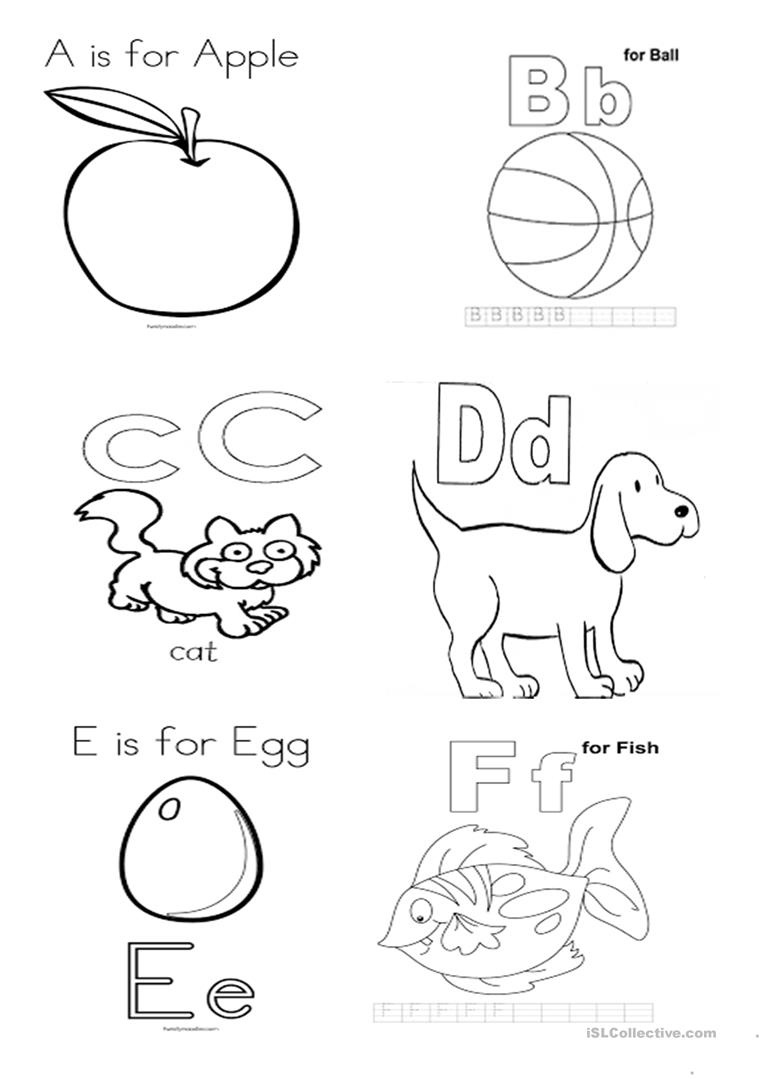 Alphabet Mini Book Worksheet - Free Esl Printable Worksheets Made - Free Printable Abc Mini Books