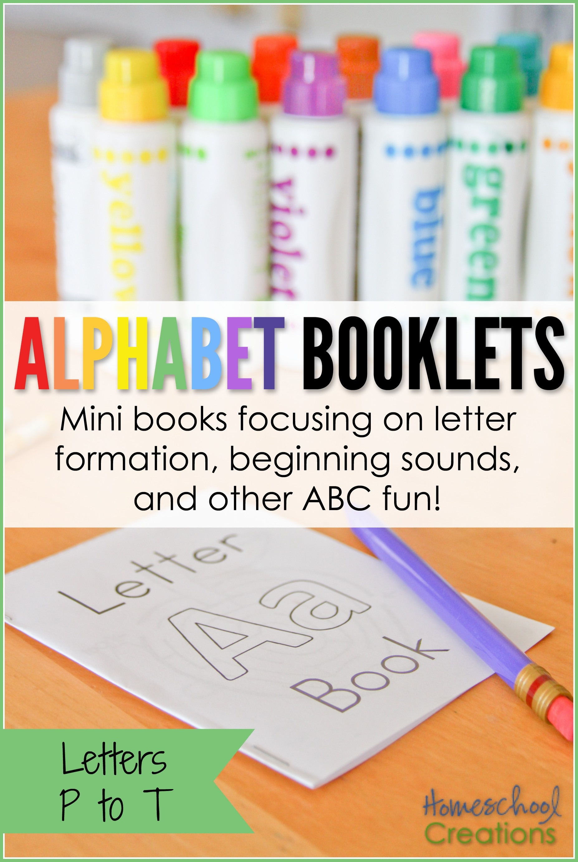 Alphabet Mini Booklets - Letters P To T (Free Printable) - Free Printable Abc Mini Books